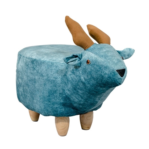 DEER STOOL  LIGHT BLUE
